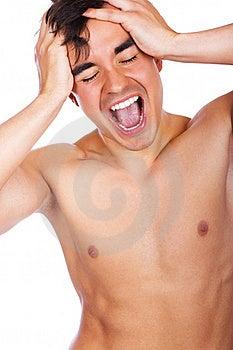El Hombre Está Gritando Fotografía de archivo - Imagen: 19392632