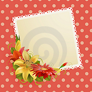 Flowers And Place For Text Stock Images - Image: 19392954