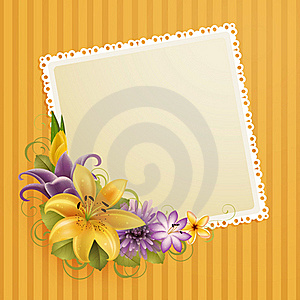 Flowers And Place For Text Stock Image - Image: 19392971