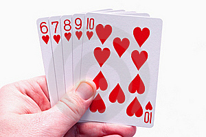 Holding Straight Flush Royalty Free Stock Images - Image: 19395009
