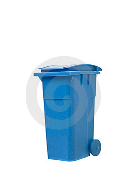 Blue Recycling Bin Stock Photography - Image: 19397152