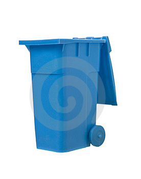Blue Recycling Bin Stock Photos - Image: 19397163
