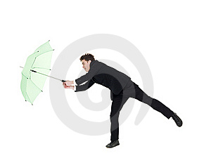 Young Man With Umbrella Stock Photography - Image: 19397462