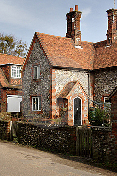 Brick And Flint Cottage Stock Photos - Image: 1947603