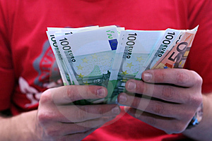 Payment With Euros Royalty Free Stock Images - Image: 1948499