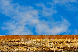 Blue Sky Wood Shingles Royalty Free Stock Photography - Image: 19400237