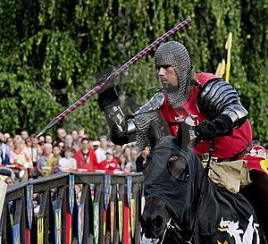 Medieval Knight On Horseback Stock Images - Image: 19403354