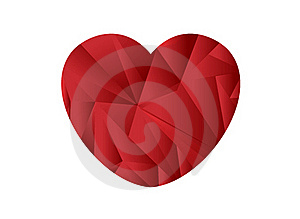 Heart Shape Origami Royalty Free Stock Photo - Image: 19408835