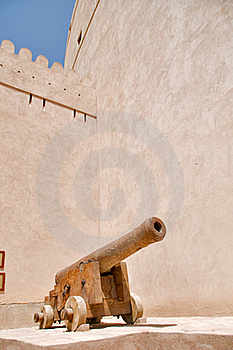 Cannon In Rustaq Fort Stock Image - Image: 19409351