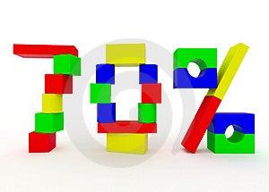 Seventy Percent Stock Photography - Image: 19409812