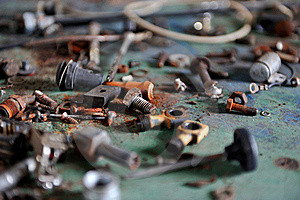 Rusted Screws Royalty Free Stock Photo - Image: 19411015