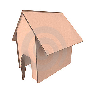 Cardboard House Royalty Free Stock Photography - Image: 19412587