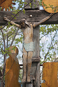 Very Old Christian Cross. Stock Photography - Image: 19413202