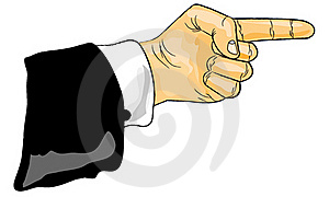 The Finger Which Specifies Royalty Free Stock Photography - Image: 19415017