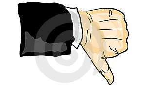 Thumb Downy Downwards Royalty Free Stock Images - Image: 19415019