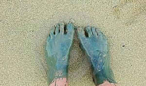Muddy Feet Stock Photo - Image: 19415070