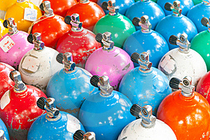 Colorful Scuba Tanks Stock Images - Image: 19416024