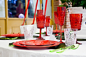 Dinner Table Setup - Italian Style Royalty Free Stock Photos - Image: 19416058