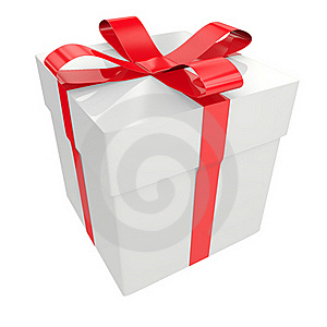 White Gift Box Stock Image - Image: 19416251