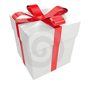 White Gift Box Stock Image - Image: 19416251