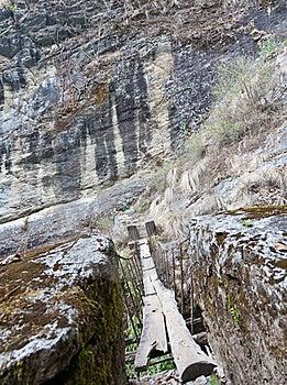 Suspension Bridge In Langtang Stock Photo - Image: 19416280