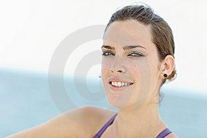 Young Beautiful Woman Smiling At Camera Royalty Free Stock Photo - Image: 19416475