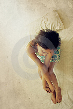 Indian Woman Twisting Hands Royalty Free Stock Images - Image: 19417679