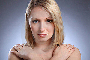 Stunning Young Blonde Girl With Blue Eyes Royalty Free Stock Images - Image: 19421629