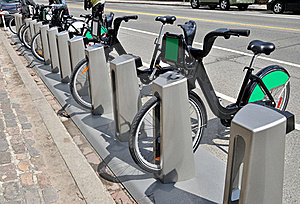 Bikes For Rent Royalty Free Stock Image - Image: 19422616