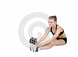 Athlete Stretching Before Exercises Royalty Free Stock Photos - Image: 19423098