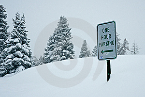 Parking In A Snow Storm Stock Images - Image: 19423164