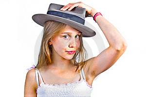 Portrait Of Cute Young Teenage Girl Royalty Free Stock Images - Image: 19425219