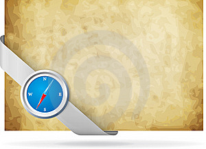 Compass And Old Background Royalty Free Stock Photo - Image: 19426705