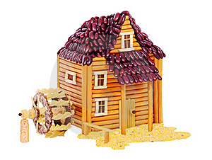 Watermill Made From Food Royalty Free Stock Image - Image: 19427826