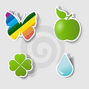 Set Of  Stickers Stock Photo - Image: 19429300