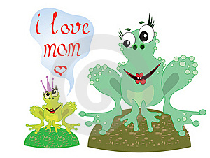 Two Frogs Royalty Free Stock Images - Image: 19429469