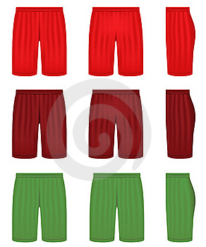 Shorts In Three Different Colors Royalty Free Stock Photo - Image: 19429575