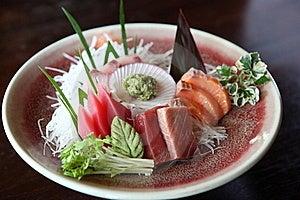 Mix Sashimi, Raw Fish Tuna And Salmon Sashimi Royalty Free Stock Image - Image: 19429686