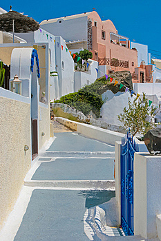 Traditional Old Street In Santorini, Greece Royalty Free Stock Images - Image: 19431999