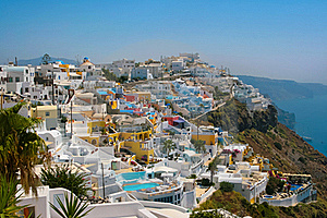 City Of Fira In Santorini Stock Images - Image: 19432014