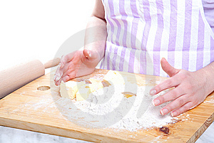 Kneading Dough Stock Photo - Image: 19432110