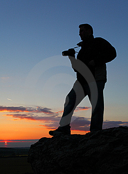 Photographer's Silhouette. Stock Photo - Image: 19432120
