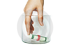 Get Or Put Money In Bank Royalty Free Stock Photos - Image: 19432328