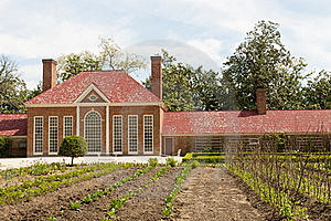 Mt Vernon Greenhouse Garden Stock Photo - Image: 19434660
