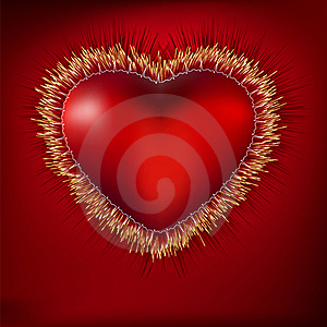 Abstract Heart With EKG. EPS 8 Royalty Free Stock Photos - Image: 19437898