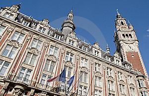 Belfry On The Main Square Of Lille, France Stock Image - Image: 19438351