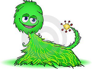 Green Furry Creature Royalty Free Stock Photo - Image: 19438665
