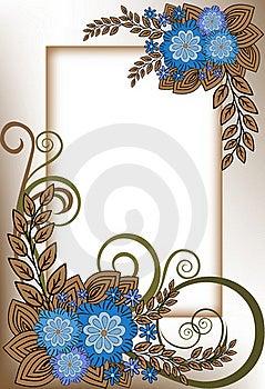 Ramowy Błękit Vertical Obraz Royalty Free - Obraz: 19438836