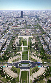 Paris From A Height Royalty Free Stock Image - Image: 19440836