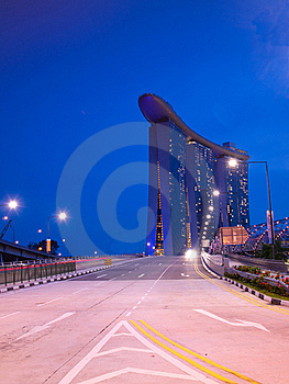 Singapore City At Night Stock Photo - Image: 19440910